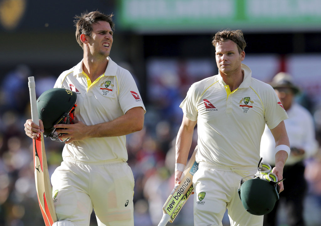 3rd Test: Smith's double hundred and Marsh's ton help Australia take lead against England on Day 3