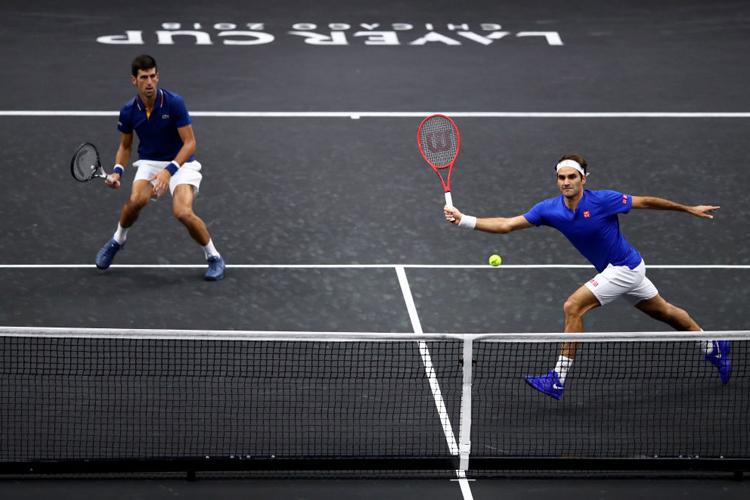 Roger Federer-Novak Djokovic lose doubles match at Laver Cup