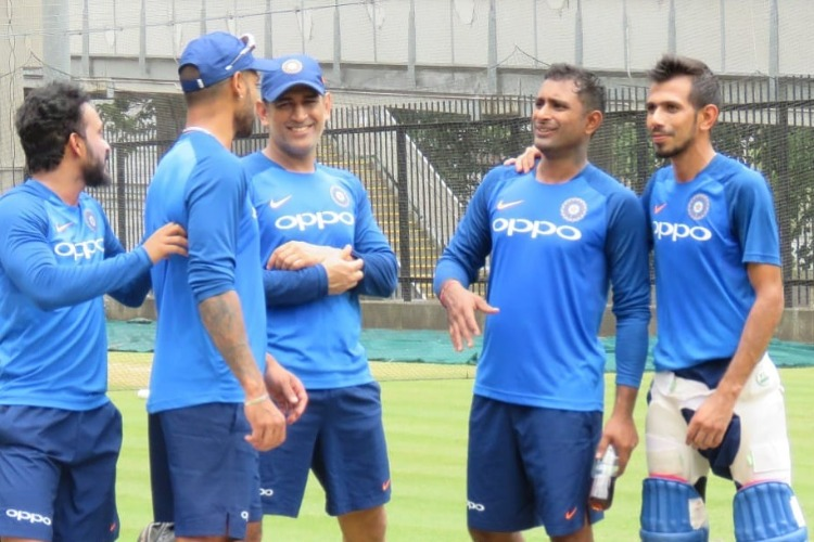 WATCH! MS Dhoni practices some hard hitting in net session ahead of series decider