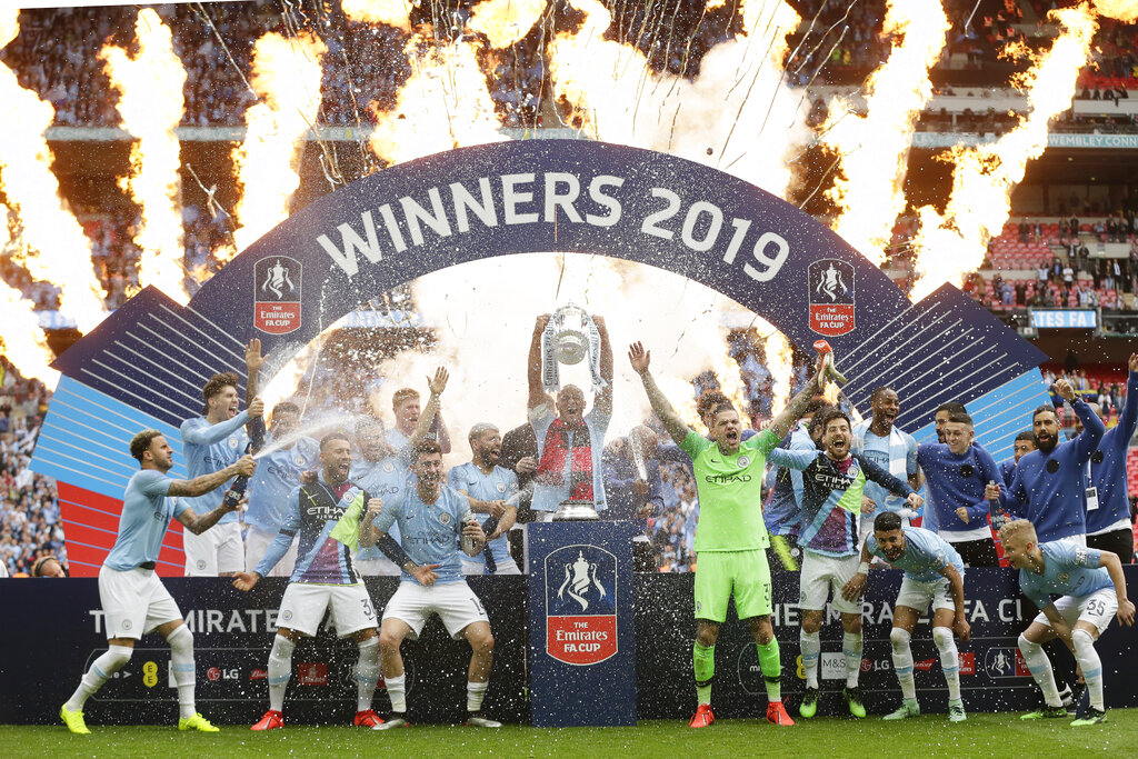 Manchester City sweep English domestic quadruple with FA Cup win over Watford