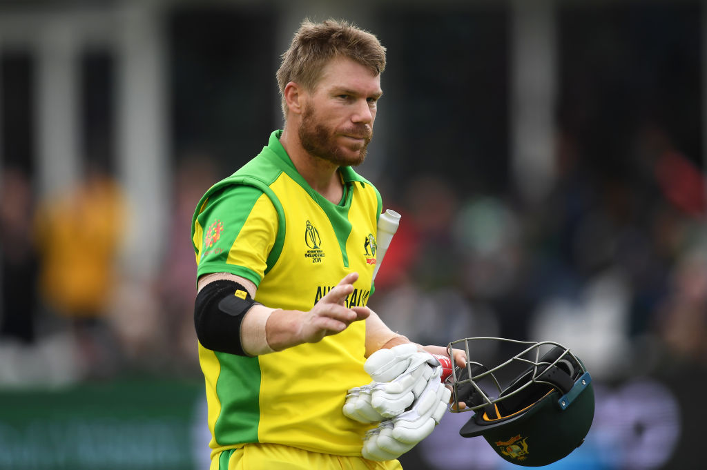 Warner becomes first player to breach 500 runs in CWC 2019, Finch misses out by four runs
