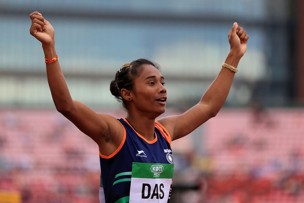 Hima Das bags fourth gold in 15 days, Anas also wins top spot