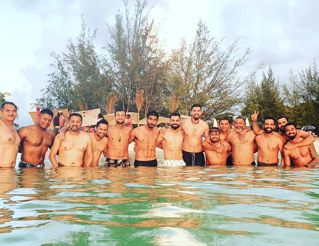 Virat Kohli and boys spend a 'stunning' day at Jolly Beach ahead of first Test
