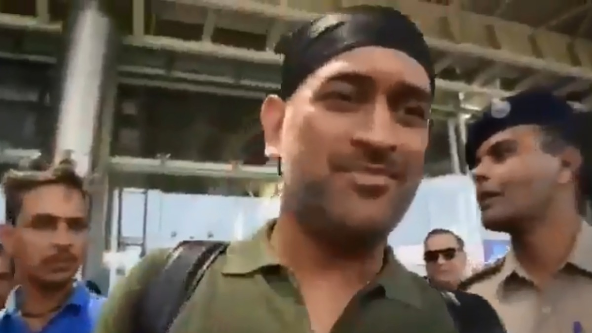 Watch | MS Dhoni sports brand new look in Jaipur, receiving rousing reception from fans