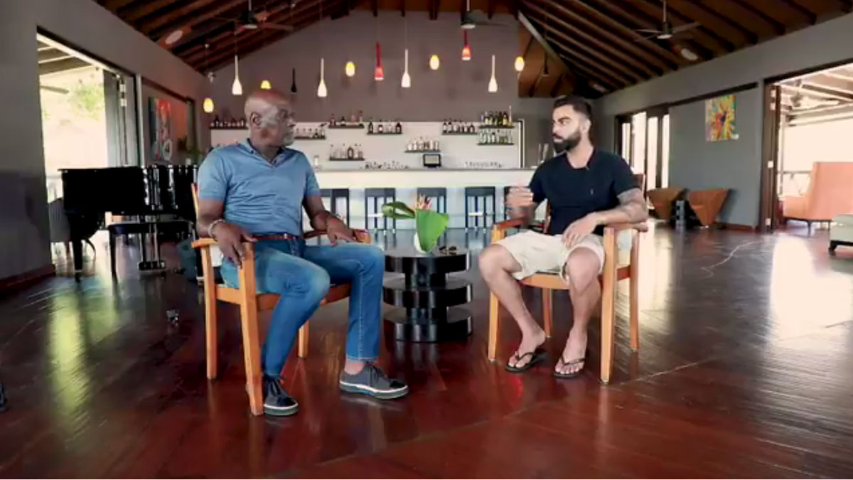 Vivian Richards reveals why he never wore helmets while batting in candid chat with Virat Kohli. Watch