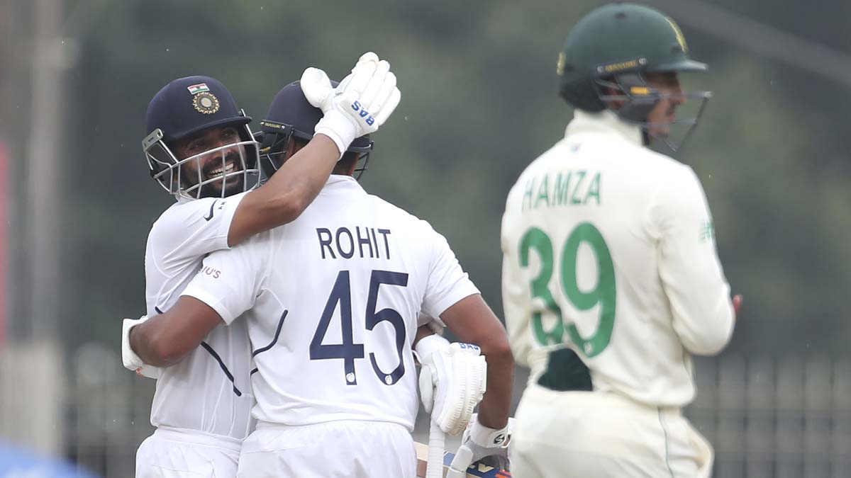 3rd Test: Rohit scores 6th ton before rain forces early end on day 1