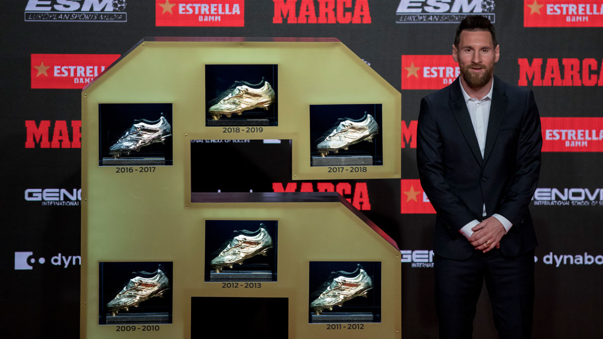Lionel Messi marks supremacy with 6th Golden Shoe