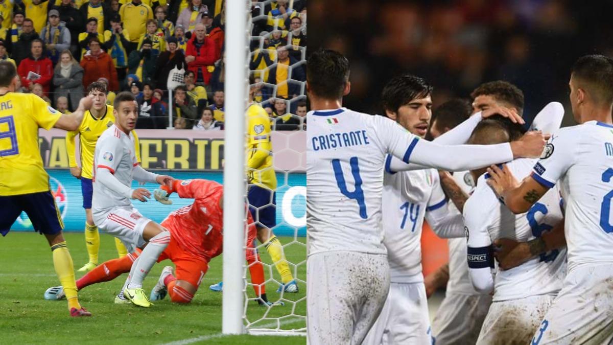 Euro 2020 qualifiers: Spain qualify, Italy beat Liechtenstein