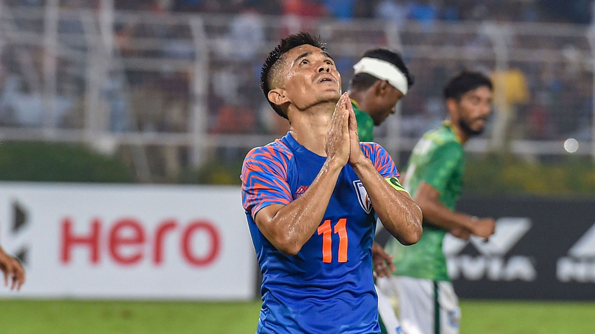Couldn't deliver a performance to match the atmosphere: Sunil Chhetri