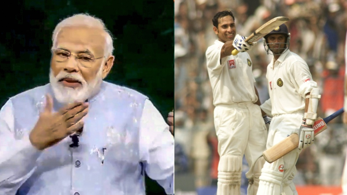PM Modi recalls Dravid, Laxman's heroics in 2001 Test against Australia in inspirational message