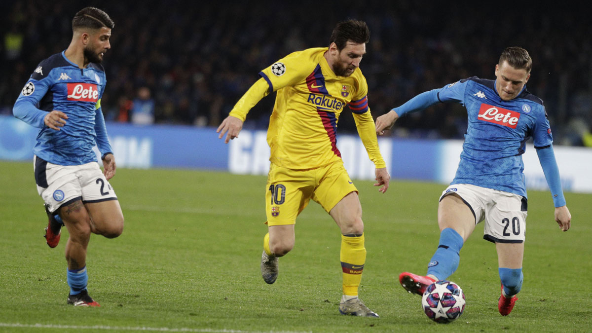 Champions League: Barcelona held to 1-1 draw at Napoli in round of 16 first leg