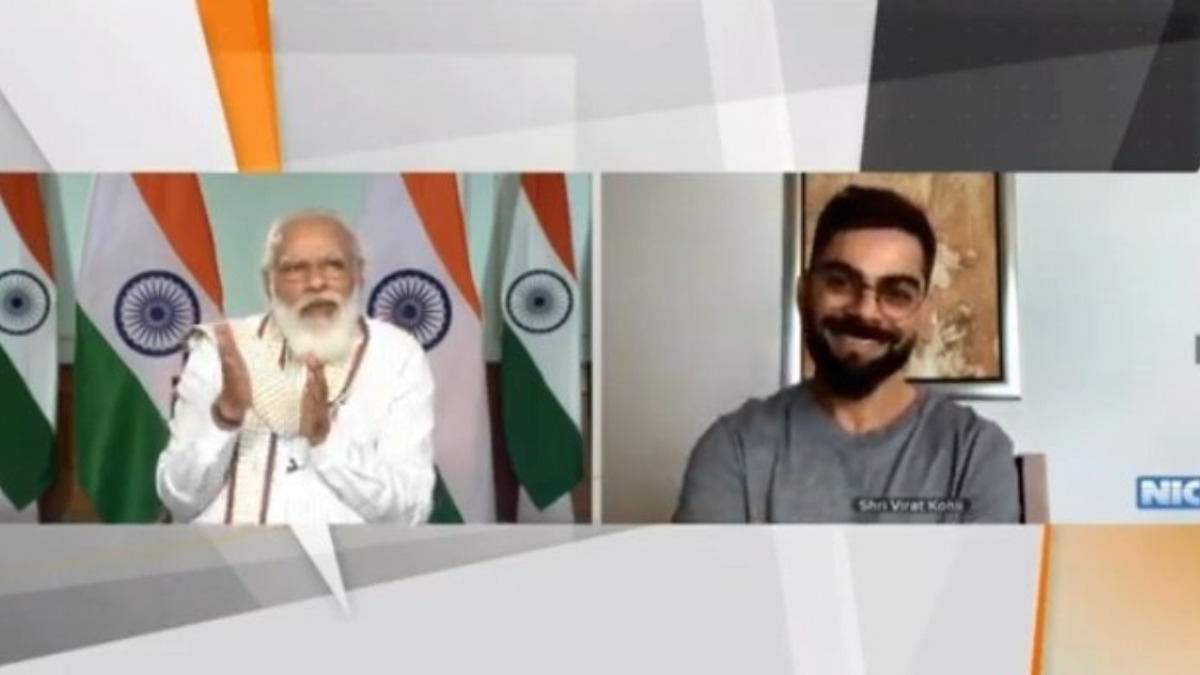 PM Modi interacts with Virat Kohli in Fit India Dialogue; talks Yo-Yo Tests and 'Chhole Bhatoore'