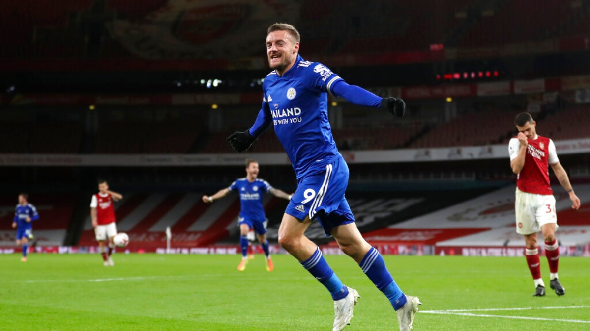 Premier League: Jamie Vardy hurts Arsenal again to seal 1-0 win for Leicester