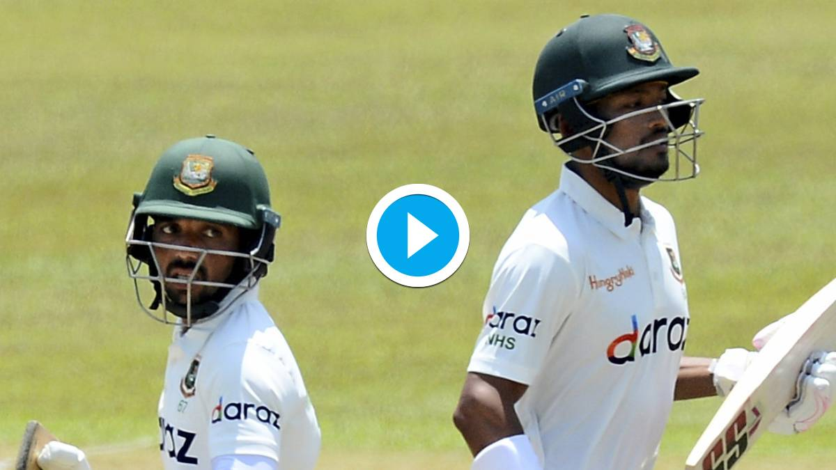 SL vs BAN | Watch: Mominul Haque century puts Bangladesh on top in 1st Test Day 2