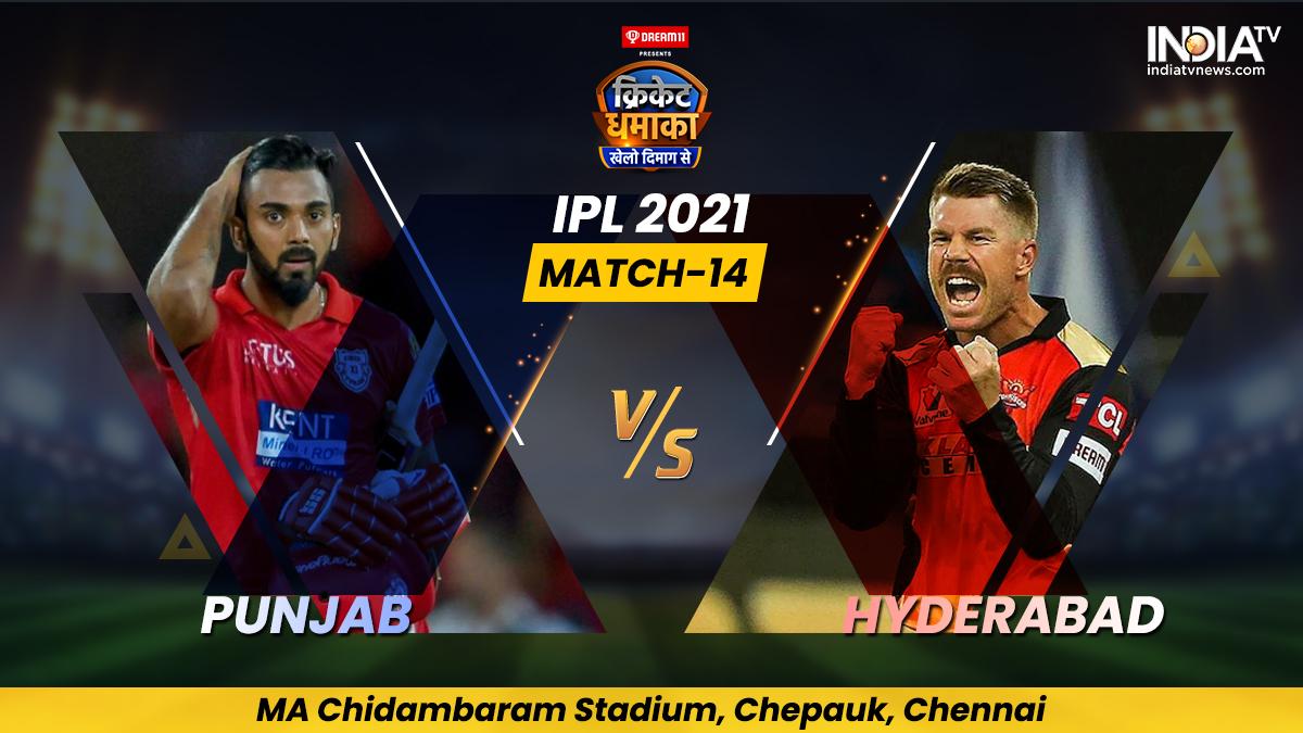 Live Score PBKS vs SRH IPL 2021 Match 14: Live Updates from Chennai